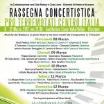 RASSEGNA CONCERTISTICA – PRO TERREMOTATI CENTRO ITALIA