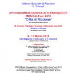 """XVI CONCORSO di ESECUZIONE MUSICALE """"CITTA' di RICCIONE"""