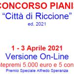 """XVIII CONCORSO PIANISTICO ed. 2021 – """"CITTA' di RICCIONE"""""""